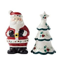 Pfaltzgraff Winterberry Santa And Tree Shakers