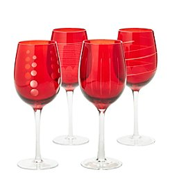 Mikasa® Ruby Cheers Four Piece Glass Set
