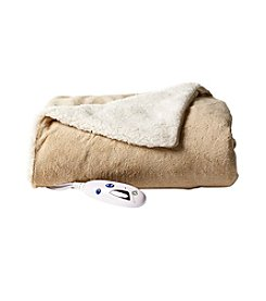 Living Quarters Solid Electric Sherpa Throw