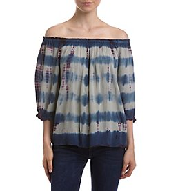 Hippie Laundry Tie Dye Off Shoulder Peasant Top