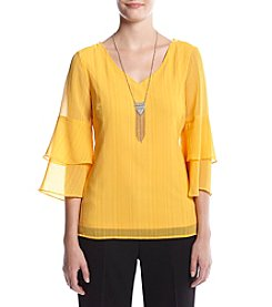 AGB® Bell Sleeve Top