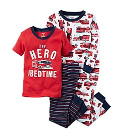 Carter's Boys' 12M-10 4 Piece Firetruck Pajama Set