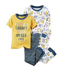 Carter's® Boys' 12 Months-12 4 Piece Construction Print Pajama Set