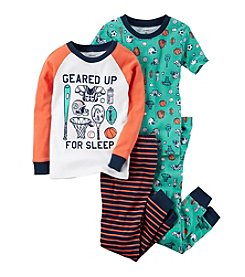 Carter's Boys' 12M-6 4 Piece Sports Gear Pajama Set