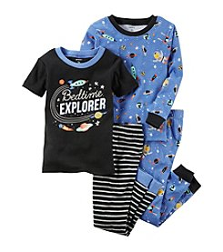 Carter's Boys' 12M-7 4 Piece Space Print Pajama Set