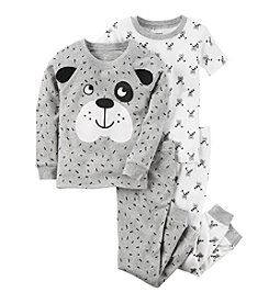 Carter's Boys' 3T-7 4 Piece Dog Face Pajama Set