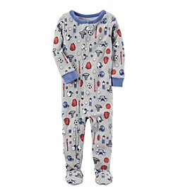 Carter's® Boys' 12 Months-5T One Piece Multi Sport Print Cotton Pajamas