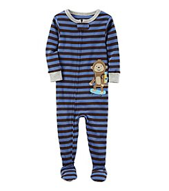 Carter's® Boys' 12 Months-5T One Piece Monkey Skateboard Pajamas