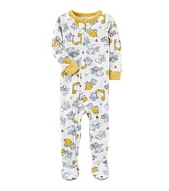 Carter's® Boys' 12 Months-5T One Piece Construction Print Cotton Pajamas