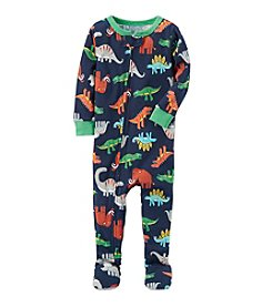 Carter's® Boys' 12 Months-5T One Piece Multi Dinosaur Print Cotton Pajamas
