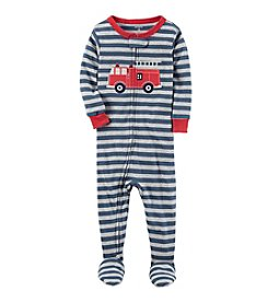 Carter's® Boys' 12 Months-5T One Piece Firetruck Print Cotton Pajamas