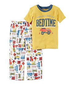 Carter's® Boys' 12 Months-5T 2 Piece Bedtime Construction Print Pajama Set