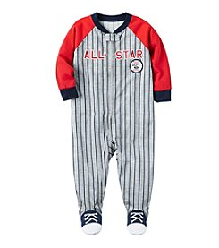 Carter's Boys' 12M-24M One Piece Striped All Star Cotton Pajamas