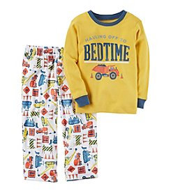 Carter's® Boys' 12 Months-12 2 Piece Bedtime Construction Print Pajama Set