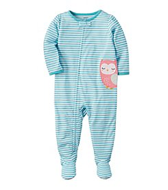 Carter's® Girls' 12 Months-5T Owl Striped One Piece Cotton Pajamas