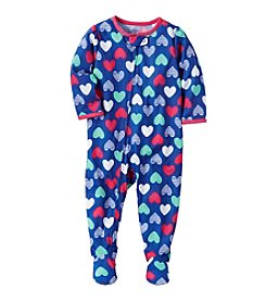 Carter's® Girls' 12 Months-5T Heart Print One Piece Cotton Pajamas