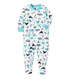 Carter's® Boys' 12 Months-5T Multi Dinosaur One Piece Cotton Pajamas