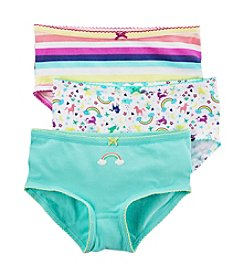 Carter's Girls' 3-Pack Rainbow Striped Panties
