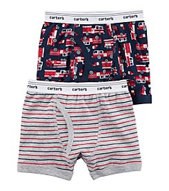 Carter's Boys' 2-Pack Firetruck And Striped Boxer Briefs