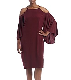 R&M Richards® Plus Size Cold Shoulder Dress