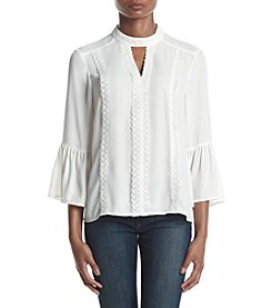 Ivanka Trump® Lace Bell Sleeves Blouse