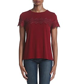 Ivanka Trump® Lace Detail Top