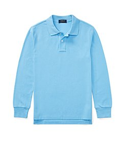 Polo Ralph Lauren® Boys' 2T-20 Cotton Mesh Long Sleeve Polo