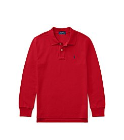 Polo Ralph Lauren® Boys' 2T-20 Cotton Mesh Long-Sleeve Polo