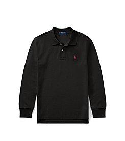 Polo Ralph Lauren® Boys 2T-20 Cotton Mesh Long-Sleeve Polo