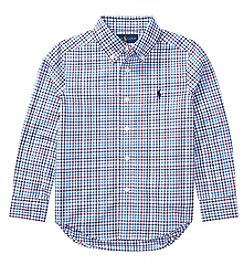 Polo Ralph Lauren® Boys' 2T-20 Plaid Cotton Poplin Shirt