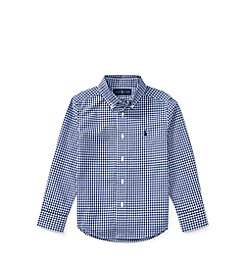 Polo Ralph Lauren® Boys' 2T-20 Gingham Cotton Poplin Shirt