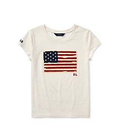 Polo Ralph Lauren® Girls' 2T-16 Washed Graphic Tee
