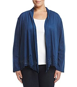 Alfred Dunner® Plus Size Suede Cut Out Jacket