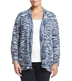 Alfred Dunner® Plus Size Space Dye Cardigan Sweater