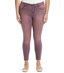 Celebrity Pink Plus Size Grape Streaky Ankle Jeans