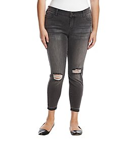 Celebrity Pink Plus Size Distressed Ankle Jeans