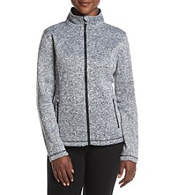 Exertek Petites' Fleece Heather Pattern Jacket