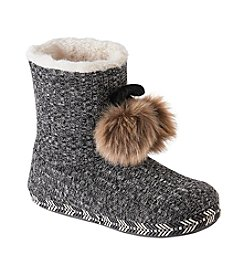 Cuddl Duds® Heather Knit Booties
