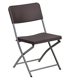 Flash Furniture Hercules Series Rattan Plastic Folding Chair