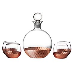 Fitz and Floyd® Daphne Copper 5-Piece Decanter and Glasses Set