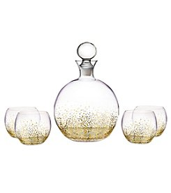 Fitz and Floyd® Luster Gold 5-Piece Decanter and Glasses Set