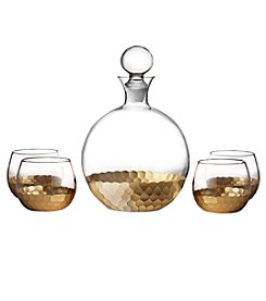 Fitz and Floyd® Daphne Gold 5-Piece Decanter and Glasses Set