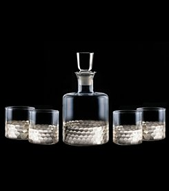 Fitz and Floyd® Daphne Silver 5-Piece Decanter and Glasses Set