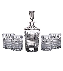 Fitz and Floyd® Danbury 5-Piece Decanter & Old Fashion Glasses Set