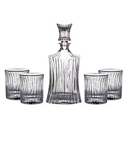 Fitz and Floyd® Augusta 5-Piece Decanter & Old Fashion Glasses Set