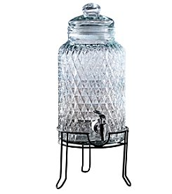 Style Setter Quilted 1.5-Gallon Beverage Dispenser with Stand