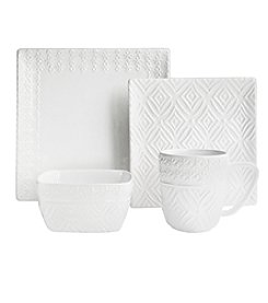 American Atelier Jasmin White 16-pc. Dinnerware Set