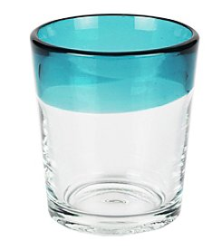 Caribbean Joe® Blue Rim Set of 4 Old Fashioned Glasses