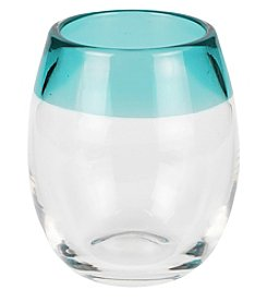 Caribbean Joe® Blue Rim Set of 4 Stemless Glasses