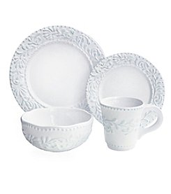 American Atelier Bianca Leaf 16-pc. Dinnerware Set